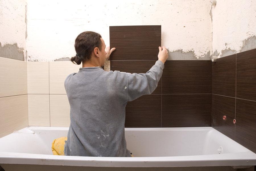 Ремонт в ванной комнате своими руками стены